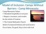 model of inclusion camps without barriers camp minnesota