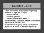 deductive calculi