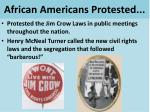 african americans protested