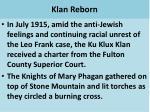 klan reborn