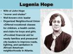 lugenia hope