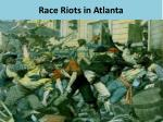 race riots in atlanta