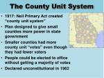 the county unit system