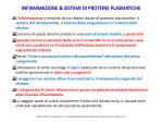 infiammazione sistemi di proteine plasmatiche