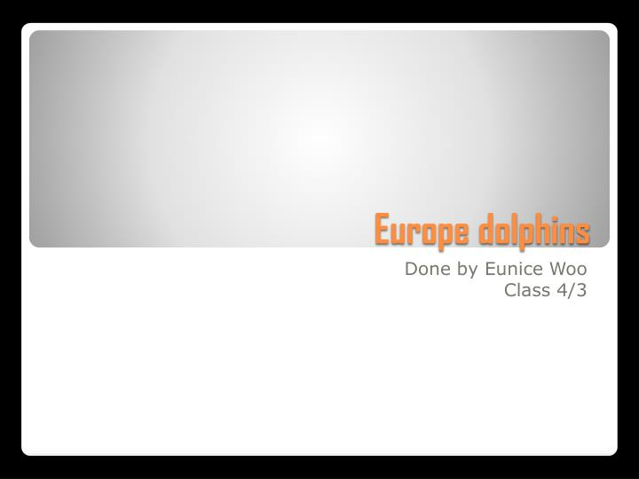 europe dolphins n.