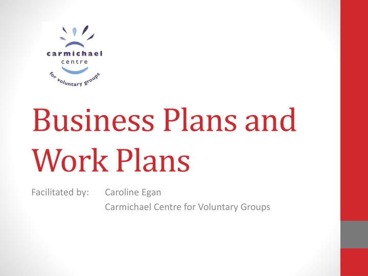 business plans and work plans n.