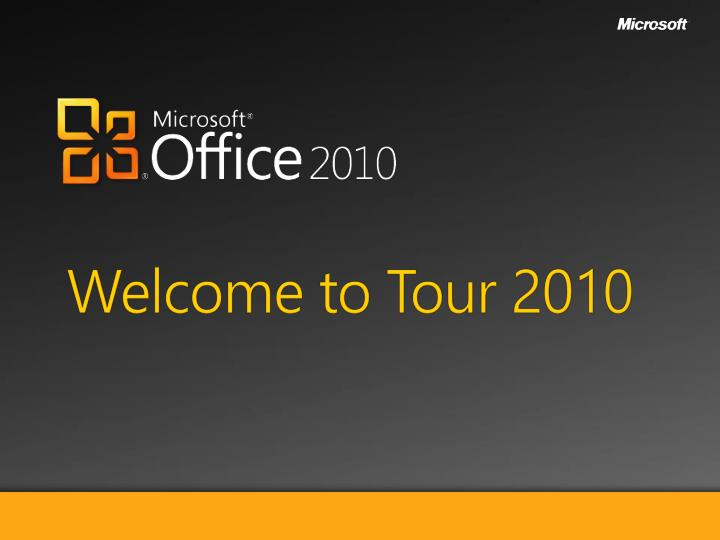 welcome to tour 2010 n.