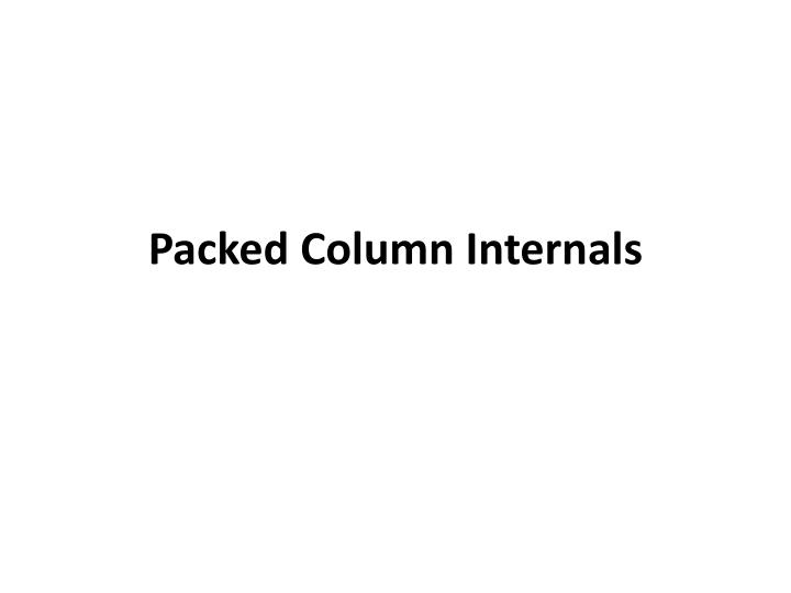 packed column internals n.