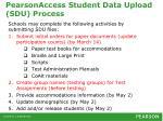 pearsonaccess student data upload sdu process1