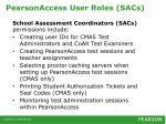 pearsonaccess user roles sacs