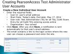 creating pearsonaccess test administrator user accounts