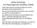 arthur schnitzler zur physiologie des schaffens 19042