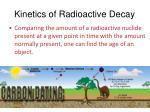 kinetics of radioactive decay1