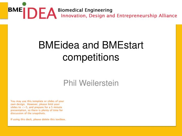 bmeidea and bmestart competitions n.