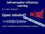 self perception influences l earning