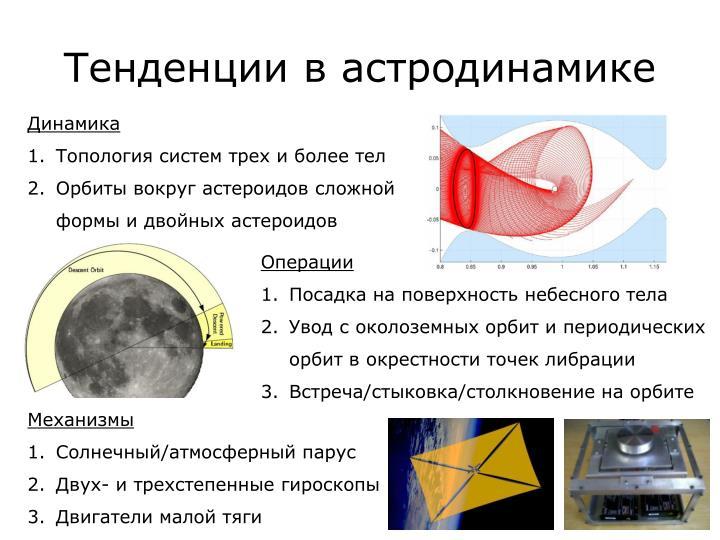Тенденции в астродинамике