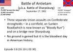 battle of antietam a k a battle of sharpsburg september 17 1862