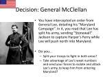 decision general mcclellan