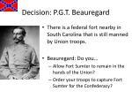 decision p g t beauregard