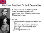 decision president davis general lee1