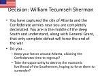 decision william tecumseh sherman