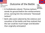 outcome of the battle