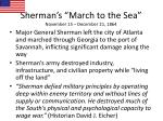 sherman s march to the sea november 15 december 21 1864