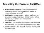 evaluating the financial aid office