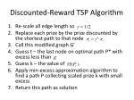 discounted reward tsp algorithm