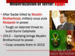 modernization or terror egyp t