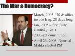 the war democracy