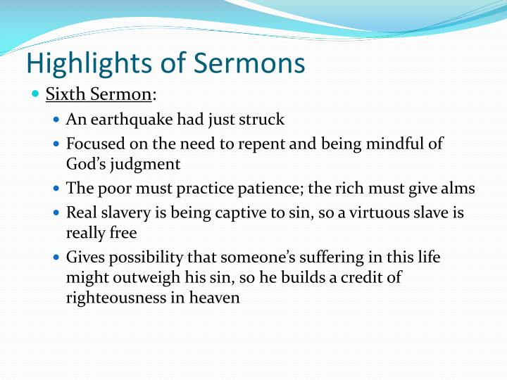 Highlights of Sermons