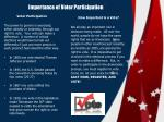 importance of voter participation