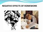 negative effects of homework