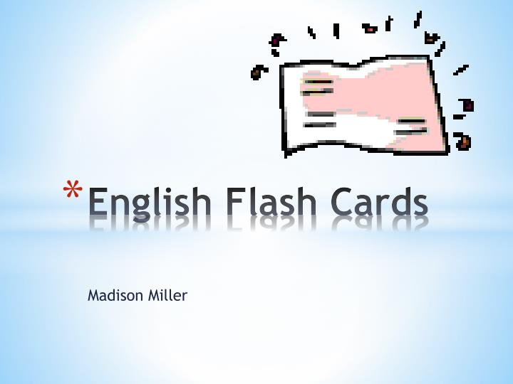 english flash cards n.