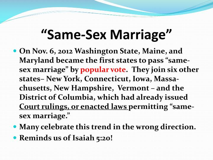 same sex marriage n.