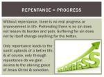 repentance progress