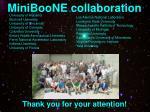 miniboone collaboration