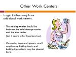 other work centers