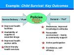 example child survival key outcomes
