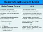 media external relations c4d