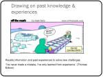 drawing on past knowledge experiences