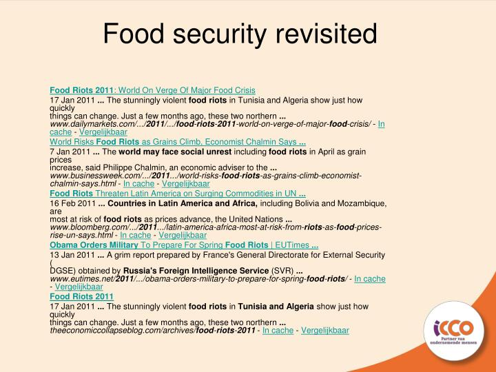 food security revisited n.