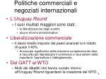 politiche commerciali e negoziati internazionali1