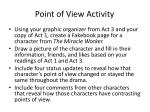 point of view activity1