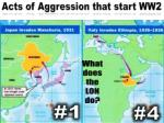 acts of aggression that start ww2