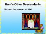 ham s other descendants