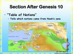 section after genesis 10