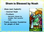 shem is blessed by noah