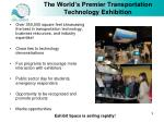 the world s premier transportation technology exhibition
